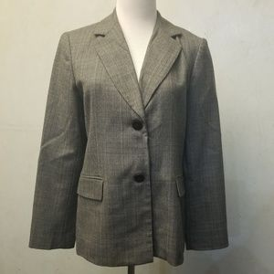 NWOT Rafaella checkered style WOOL blazer (O25)